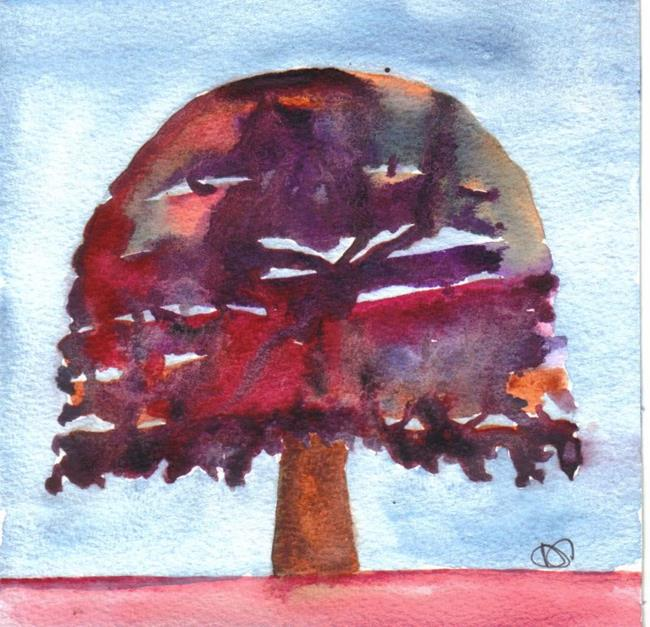 Art: PATCHWORK TREE by Artist Dawn Barker