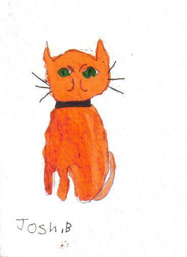 Art: Joshua's cat 3 by Artist Dawn Barker