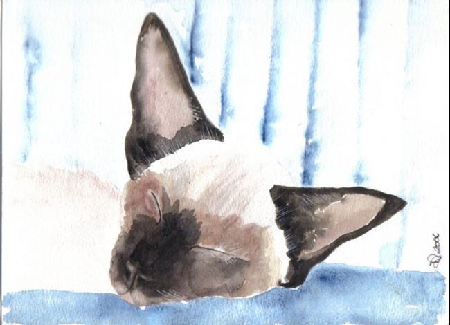Art: SIAMESE CAT c901 by Artist Dawn Barker