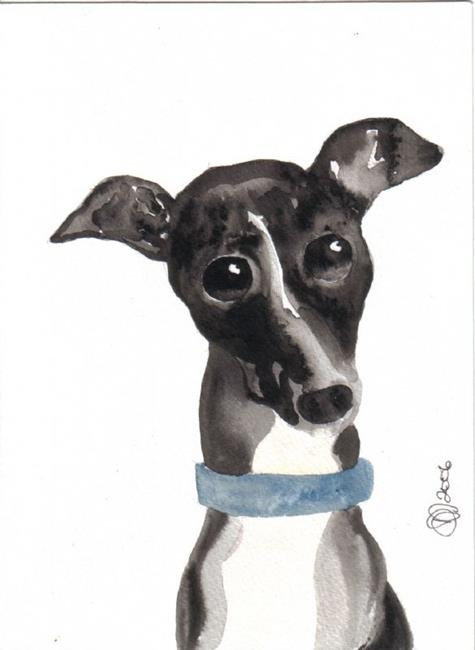 Art: Italian Greyhound by Artist Dawn Barker
