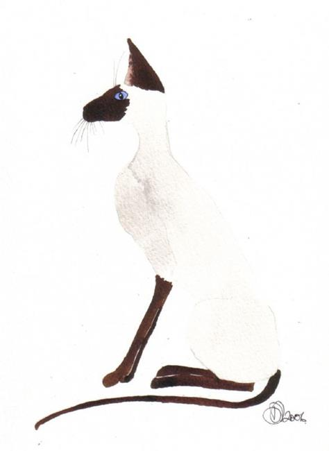 Art: SIAMESE by Artist Dawn Barker