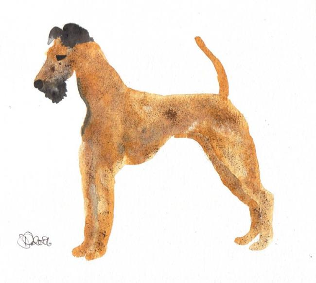Art: IRISH TERRIER by Artist Dawn Barker