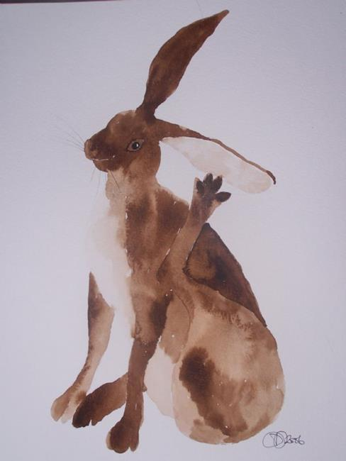 Art: HARE h476 by Artist Dawn Barker