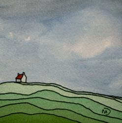 Art: Irish Farm by Artist Martin Devine