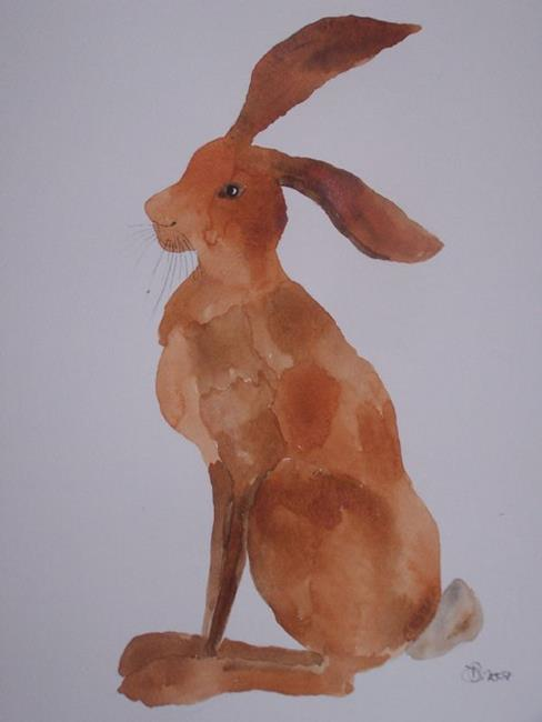 Art: HARE h502 by Artist Dawn Barker