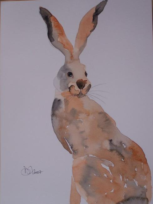 Art: HARE h516 by Artist Dawn Barker