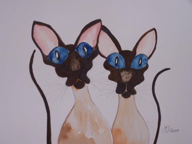 Art: SIAMESE CATS s111 by Artist Dawn Barker