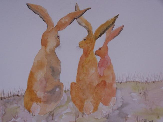 Art: HARE h527 by Artist Dawn Barker