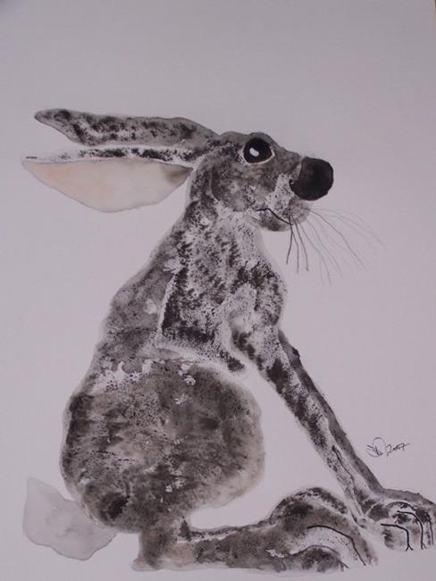 Art: HARE h542 by Artist Dawn Barker