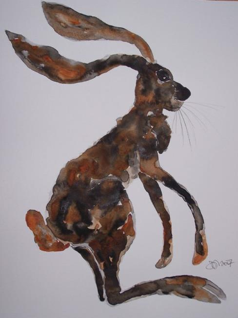 Art: HARE h554 by Artist Dawn Barker