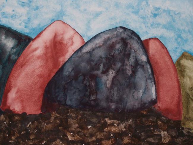 Art: FIVE HILLS by Artist Dawn Barker