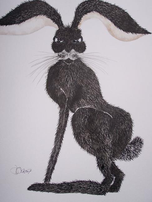 Art: HARE h570 by Artist Dawn Barker