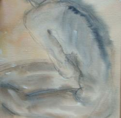 Art: Nude Study for Leave by Artist Martin Devine