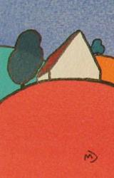 Art: ACEO House On The Hill Series No1 by Artist Martin Devine