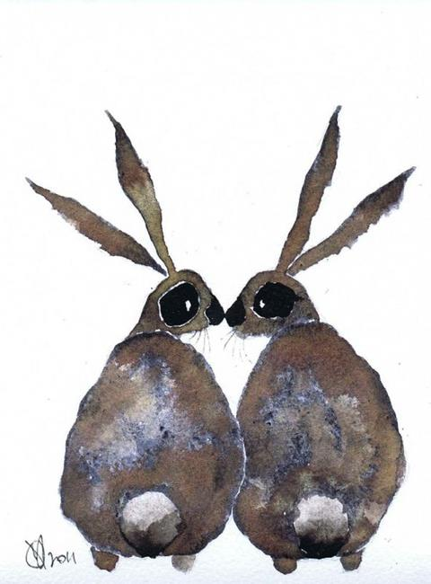 HARES IN LOVE h2016 - by Dawn Barker from