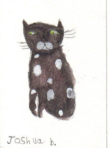 Art: Joshua's cat 1 by Artist Dawn Barker