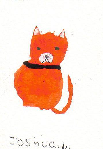 Art: Joshua's cat 2 by Artist Dawn Barker