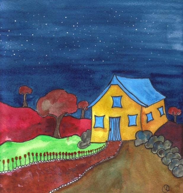 Art: LITTLE HOUSE by Artist Dawn Barker