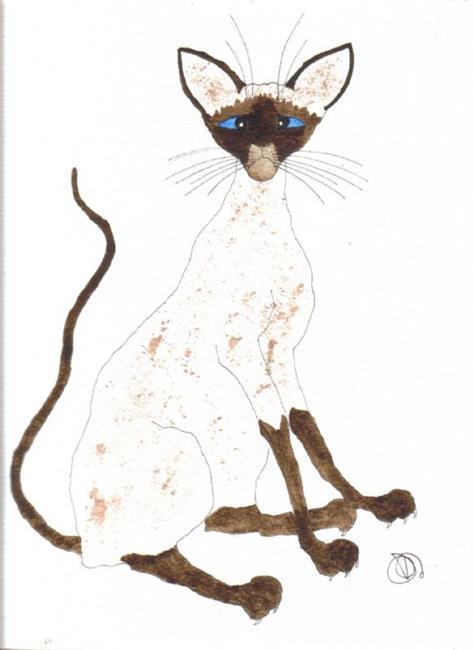 Art: SIAMESE CAT by Artist Dawn Barker
