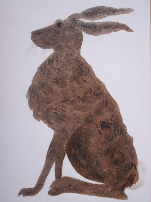 Art: HARE by Artist Dawn Barker