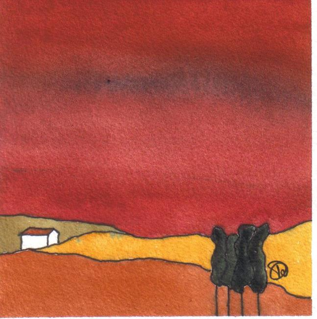 Art: TUSCANY LANDSCAPE by Artist Dawn Barker