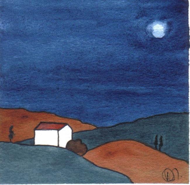 Art: SPANISH LANDSCAPE by Artist Dawn Barker