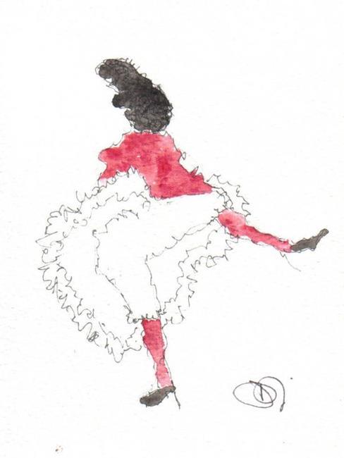 Art: CAN-CAN DANCER by Artist Dawn Barker