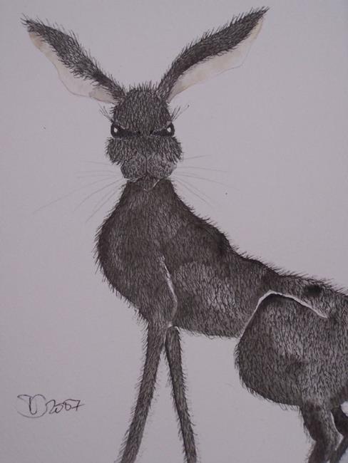 Art: HARE h566 by Artist Dawn Barker