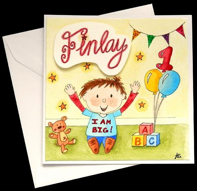 Art: Birthday Finlay 1 by Artist Jane Gould