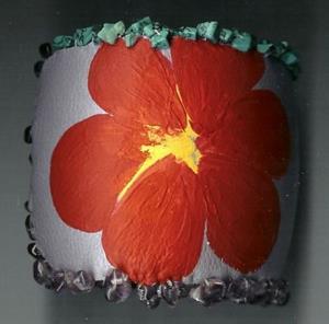 Detail Image for art EBSQ Painted Flower Bangle/ Bracelet