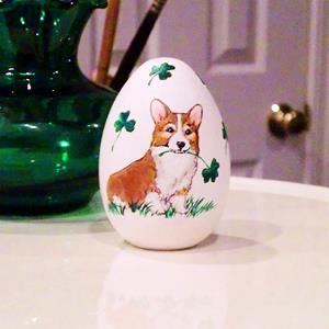 Detail Image for art Lucky St. Patrick's Day Corgi Egg
