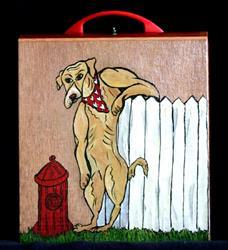 Art: Lookin' for Love Cigar Box Purse by Artist Jen Thario