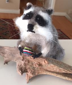 Detail Image for art Raccoon - needle felted