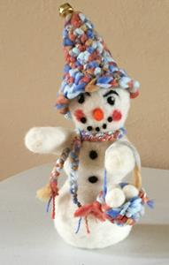 Detail Image for art Needle Felted Snowman