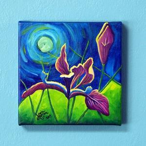 Detail Image for art Moonlight & Irises