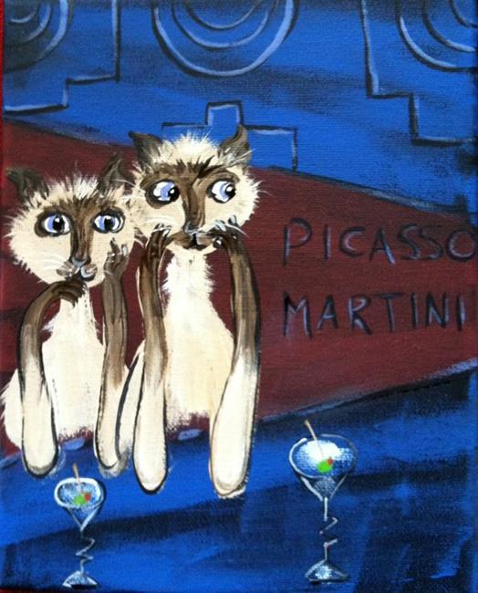 Art: Tippsy at Picasso Martini by Artist Diane Funderburg Deam