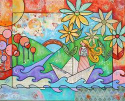 Art: Lucy in the Sky by Artist Melanie Douthit