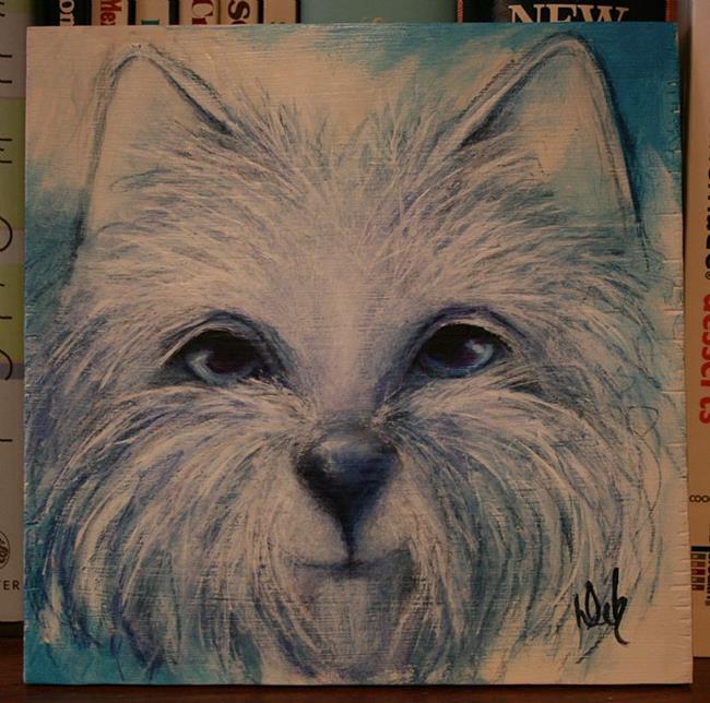 Art: Blue Westie by Artist Deb Harvey