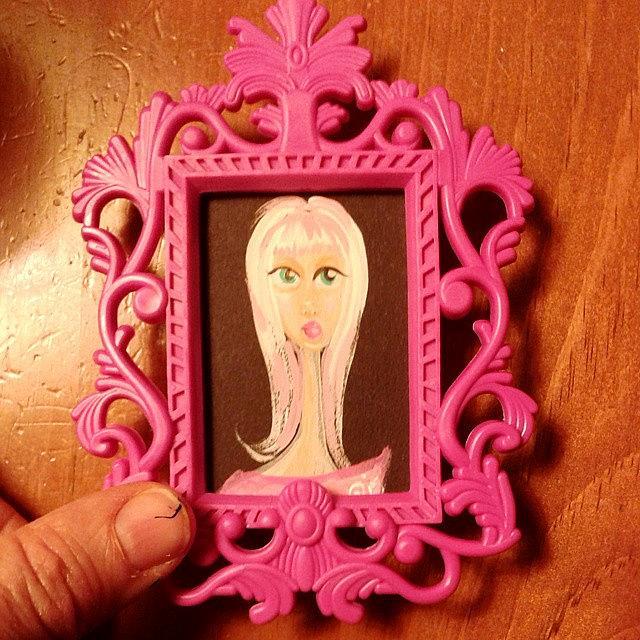 Art: Tiny Big Eyed Girl  #3 by Artist Noelle Hunt