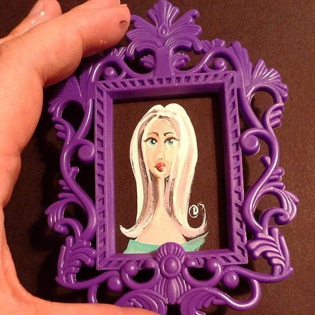 Art: Tiny Big Eyed Girl #2 by Artist Noelle Hunt