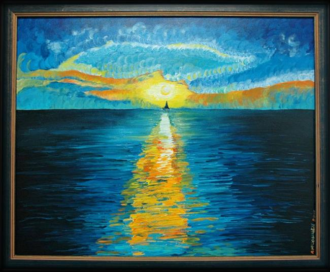 Art: Caribbean Sunset by Artist Andrew Myles McDonnell (Andy Myles)