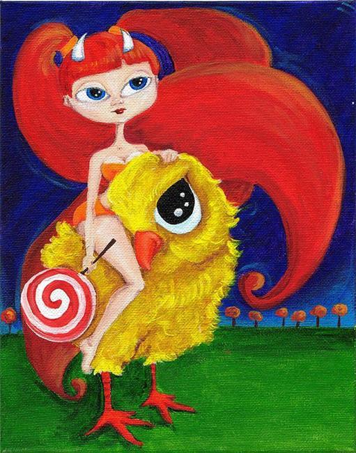 Art: Chicken to ride by Artist Noelle Hunt