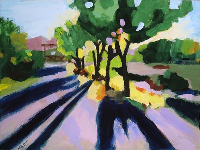 Art: Evening Shadows by Artist Muriel Areno