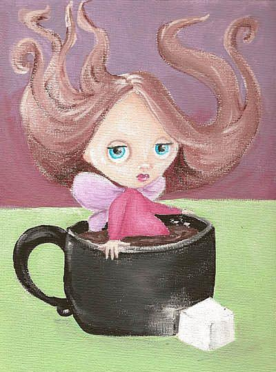 Art: coffee fairy by Artist Noelle Hunt