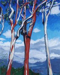 Art: Eucalyptus, Irvine, California by Artist Muriel Areno
