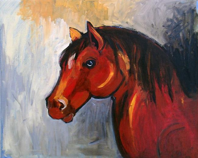 Art: The Red Horse by Artist Muriel Areno