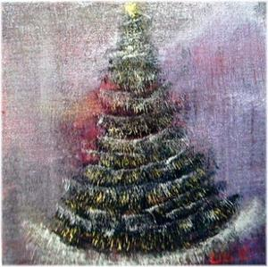 Detail Image for art CHRISTMAS NIGHT-sold