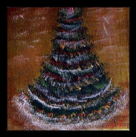 Art: CHRISTMAS TREE-sold by Artist LUIZA VIZOLI