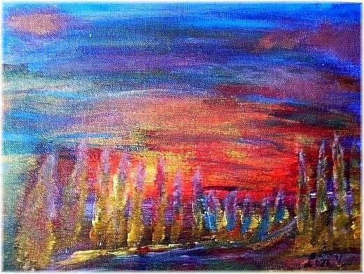 Art: GOLDEN TREES-sold by Artist LUIZA VIZOLI