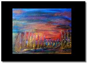 Detail Image for art GOLDEN TREES-sold